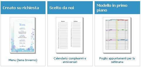 Modello Calendario Word.Estering Menu Tema Inverno Modello Per Word