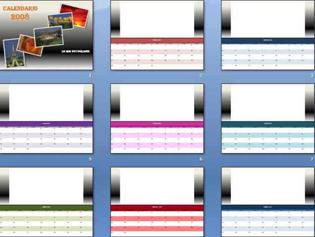 Modello] calendario 2008 con le tue fotografie