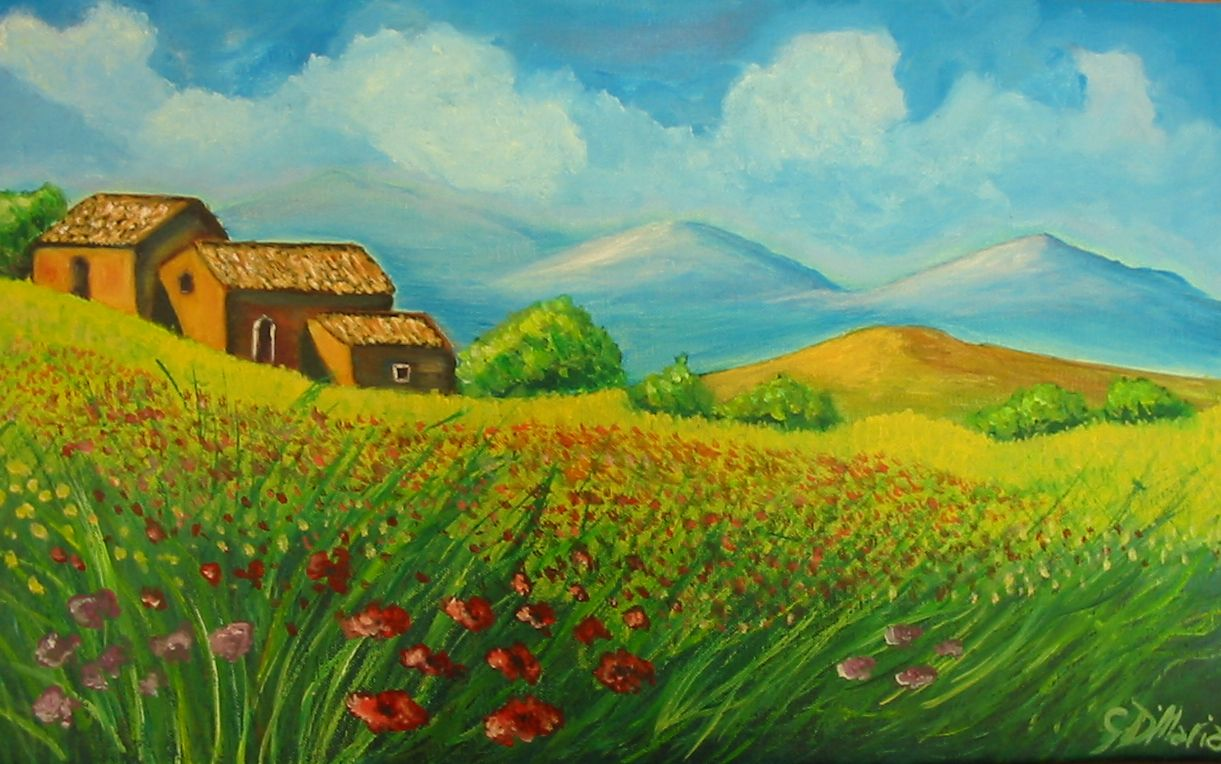 Passione arte paesaggio ad olio for Paesaggi facili da disegnare